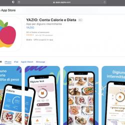 Yazio app per iPhone ed Android