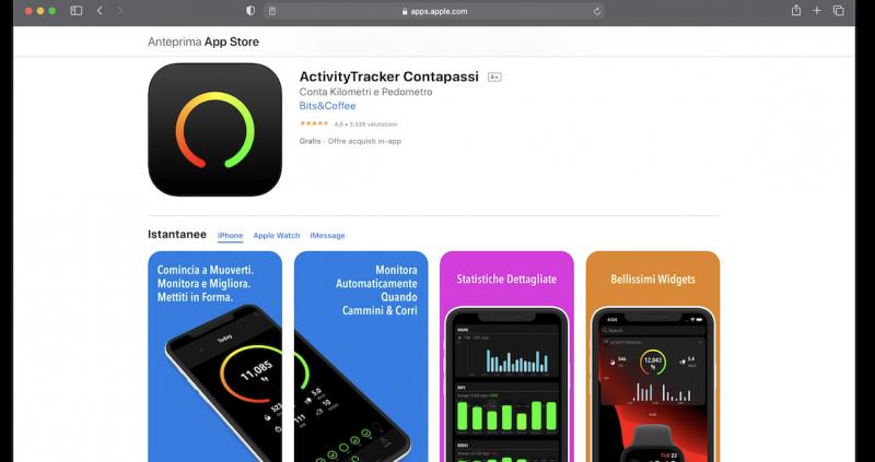 Activity Tracker App per iPhone