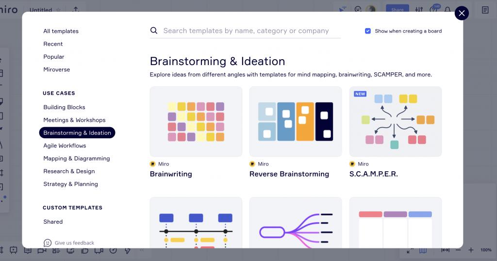 Miro: strumento digitale per organizzare, creare e condividere idee con ill tuo team