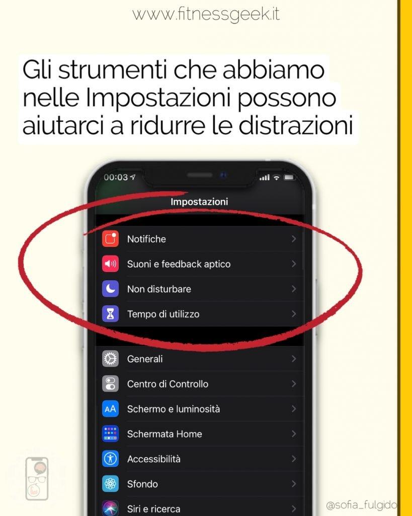 funzionalità impostazioni iPhone