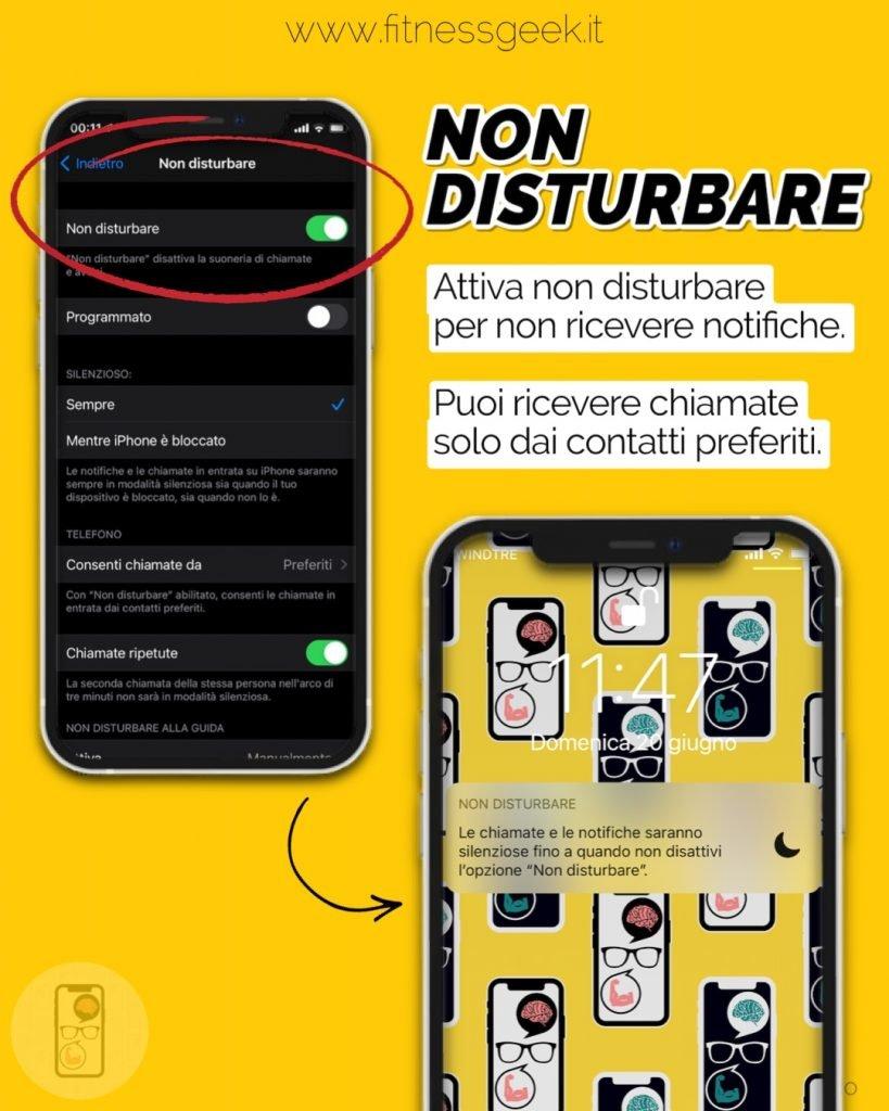 funzionalità non disturbare su iPhone