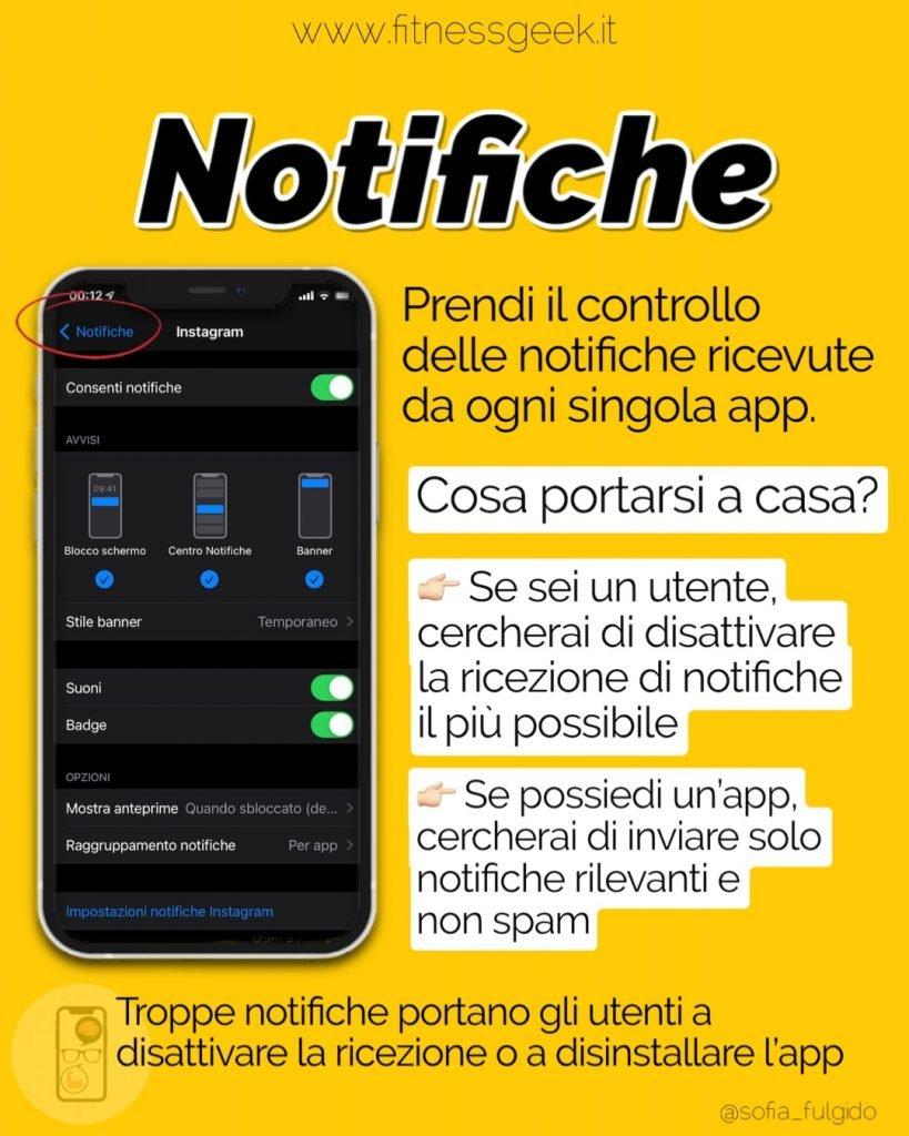 notifiche impostazioni iPhone